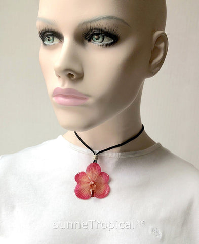 Real Flower Jewelry VANDA orchid - PINK
