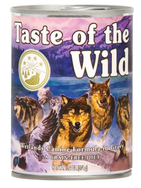 Hrana umeda pentru caini TASTE OF THE WILD WETLANDS – 390 GR - Happy Tail