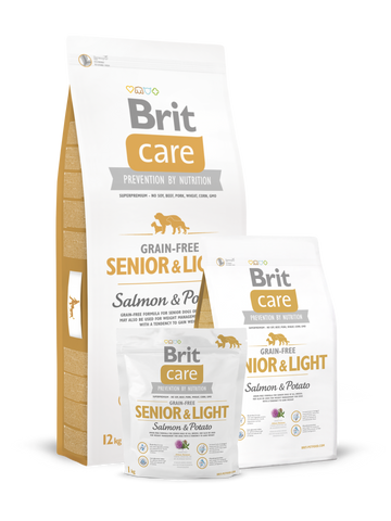 Brit Care Grain Free Senior - Light Somon si Cartofi