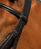 Heritage English Leather Bridle With Fancy Stitched Cavesson Noseband detail