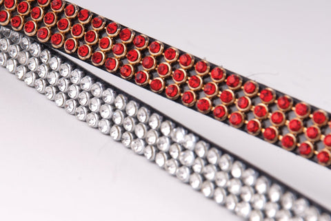 Heritage Three Row Crystal Browband detail