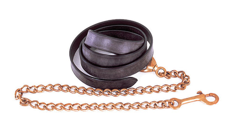 Windsor Equestrian Leather Lead And Chain