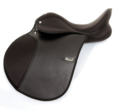 Rhinegold Synthetic General Purpose Saddle - Extra Wide Fit
