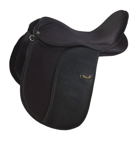 Rhinegold Synthetic Dressage Saddle - Extra Wide Fit