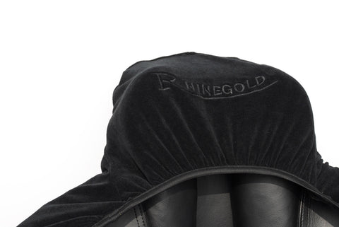 Rhinegold Stretch Jersey Saddle Cover Black
