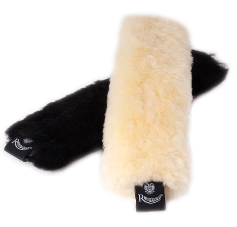 Rhinegold Real Sheepskin Noseband Cover