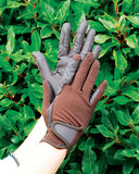 Rhinegold Super Stretch Mesh Back Riding Gloves brown