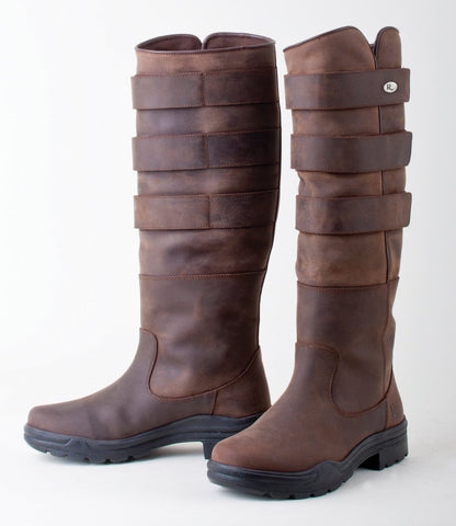 Rhinegold 'Elite' Colorado Leather Country Boots brown