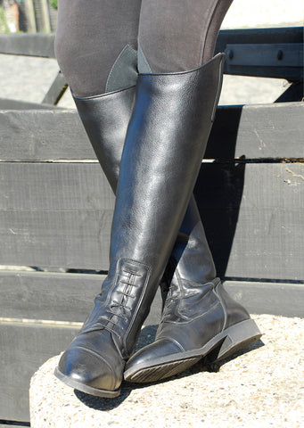 Rhinegold Elite Valencia Long Leather Riding Boots black