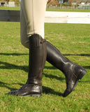 Rhinegold Elite Valencia Long Leather Riding Boots brown