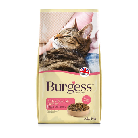 Burgess Adult Cat Rich in Scottish Salmon 10kg