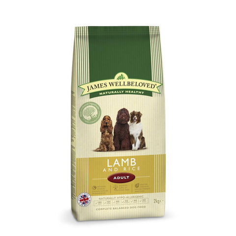 James Wellbeloved Lamb & Rice Adult Dog Food 2kg