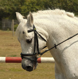 Rhinegold German Leather Bridle With Detachable Flash Noseband