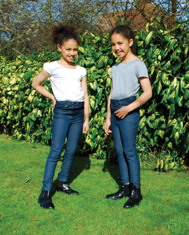 Rhinegold Stretch Denim Childrens/Maids Jodphurs
