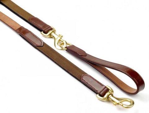 John Whitaker English Leather Draw Reins With Elastic