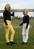 Rhinegold Children's Essential Jodhpurs canary and white