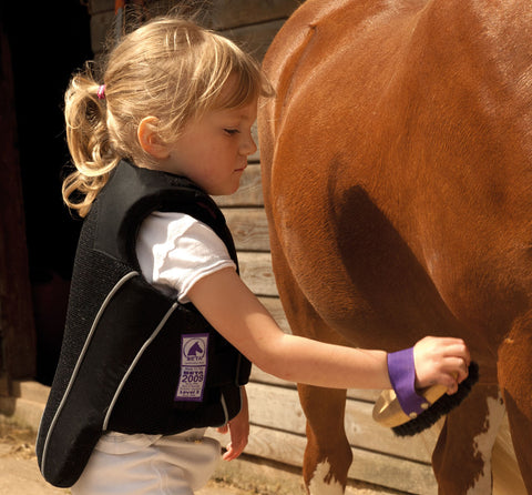Rhinegold Childrens Beta 2009 Level 3 Body Protector on model