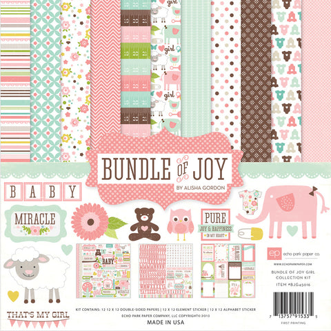 "Echo Park Paper 12"" x 12"" Bundle of Joy Collection Kits - Terryfic Shop"
