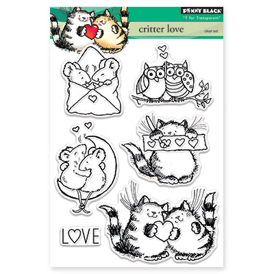 Penny Black Critter Love Stamp Set - Terryfic Shop