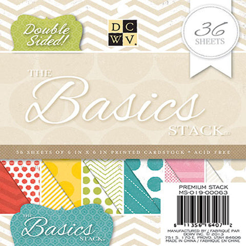 "DCWV 6"" x 6"" The Basics Stack - Terryfic Shop"