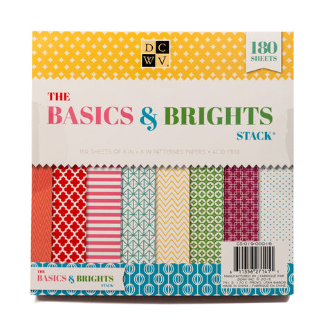 "DCWV 8"" x 8"" The Basics & Brights Stack - Terryfic Shop"