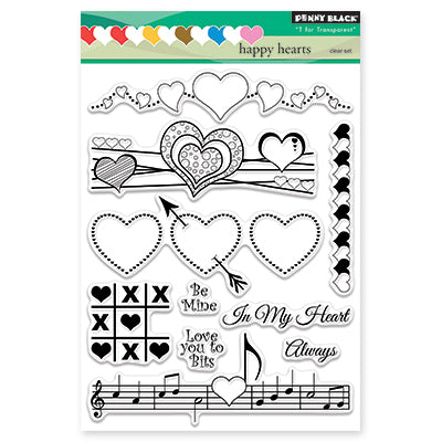 Penny Black Happy Hearts Stamp Set - Terryfic Shop