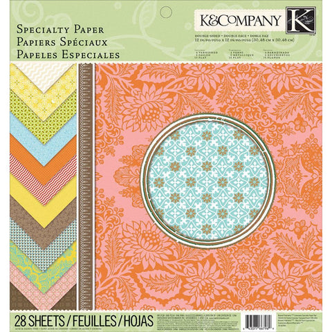 "K&Company 12""x 12"" Beyond Postmarks Specialty Paper Stack - Terryfic Shop"