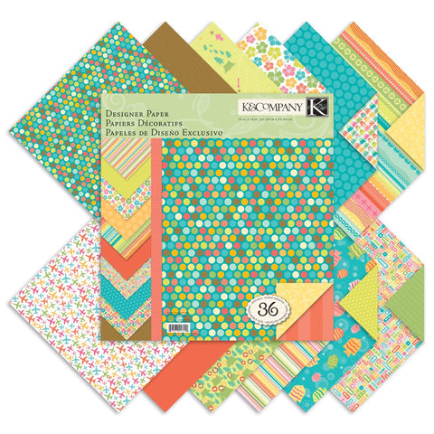 "K&Company 12"" x 12"" Summer Travel Paper Stack - Terryfic Shop"