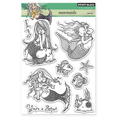 Penny Black Mermaids Stamp Set - Terryfic Shop