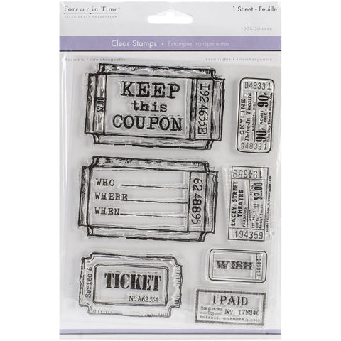 Multicraft Tickets Clear Stamps - Terryfic Shop