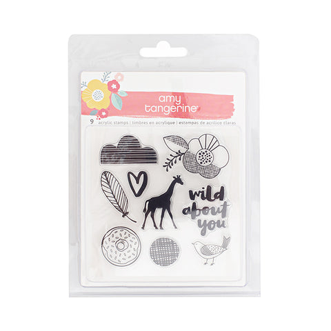Amy Tangerine Oh Happy Life Acrylic Stamp Set - Terryfic Shop