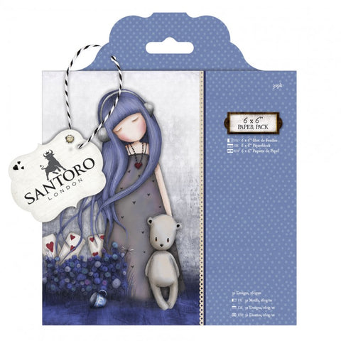 "Santoro Gorjuss 6"" x 6"" Dear Alice Paper Pack - Terryfic Shop"
