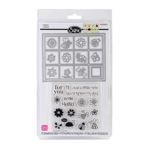 Sizzix Windows Framelits with Stamps - Terryfic Shop