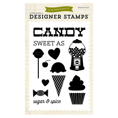 Echo Park Paper Sweet As Candy Stamp Set - Terryfic Shop