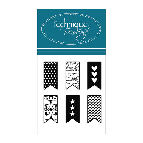 Technique Tuesday Little Banners Clear Stamp Set - Terryfic Shop