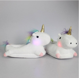Glowing Unicorn Slippers - Slippers - Rebel Style Shop