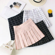 Grid Mini Skirt - Skirt - Rebel Style Shop