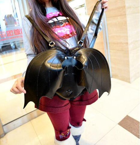 Heart-shaped Bat Backpack with Wings - Backpack - Rebel Style Shop