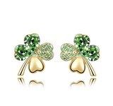 Clover Heart Stud Earrings
