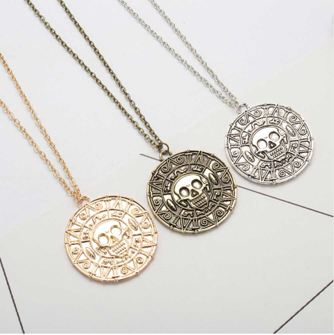 Aztec Coin Necklace - necklace - Rebel Style Shop