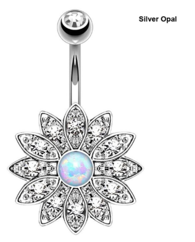Flower Belly Button Ring - Belly Button Ring - Rebel Style Shop