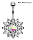 Flower Belly Button Ring