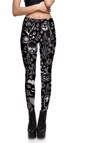 Unique Goth Leggings - Leggings - Rebel Style Shop