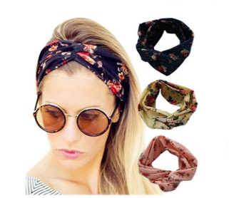 Floral Printed Turban - Headband - Rebel Style Shop