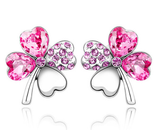 Clover Heart Stud Earrings - earrings - Rebel Style Shop