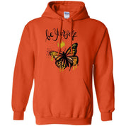 "Inspiring Butterfly Pullover Hoodie - ""Be Yourself"""
