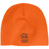 Faith Can Move Mountains Acrylic Beanie - Hats - Rebel Style Shop