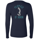 Mermaid Of Honor Ladies' Softstyle 4.5 oz. LS T-Shirt