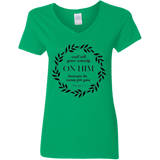 Cast All Your Anxiety On Him Ladies' 5.3 oz. V-Neck T-Shirt
