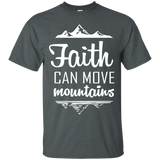 Faith Can Move Mountains Cotton T-Shirt - T-Shirts - Rebel Style Shop